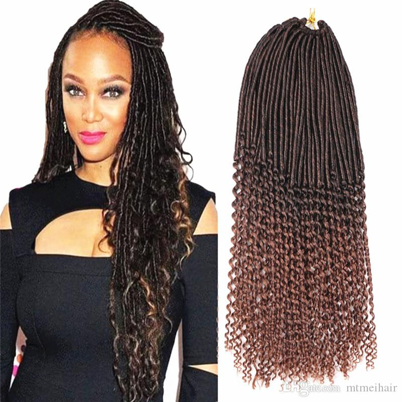 Mtmei Goddess Faux Locs Curly Ends Crochet Braid Hair 20 24roots