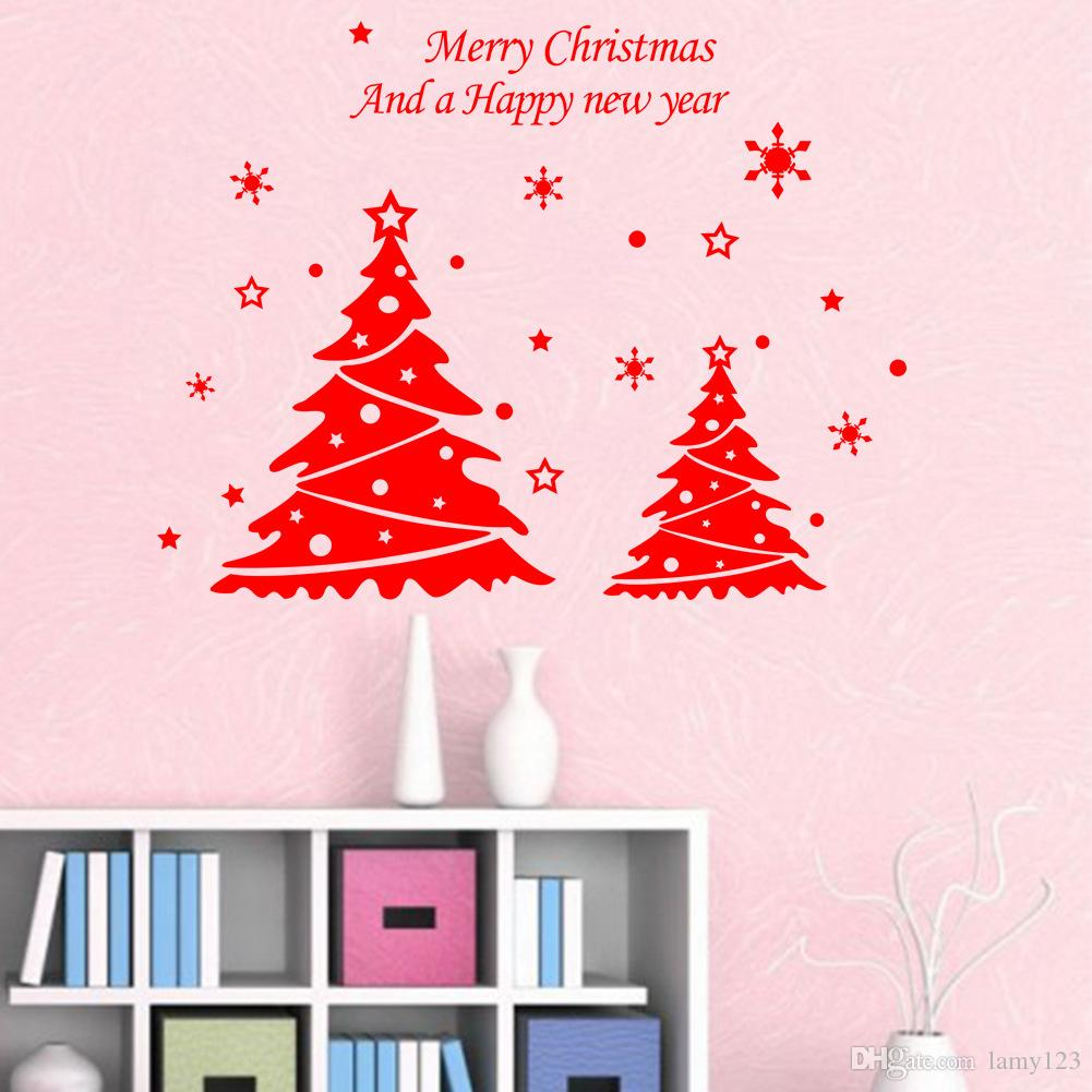Wholesale Diy New Year Christmas Doubles Tree Wall Decor Merry Christmas  Bedroom Living Room Home Store Decorations Background Wall Stickers Home  Decor ... Part 83