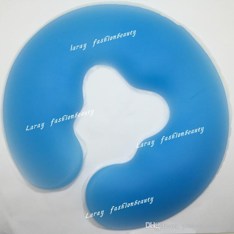 Neue U-Form Health Care Silicon Spa Kissen Spa Gel Pad Gesichtsauflage Körper Rückenmassage Overlay Silikon Gesicht Kissen Wiege Kissen