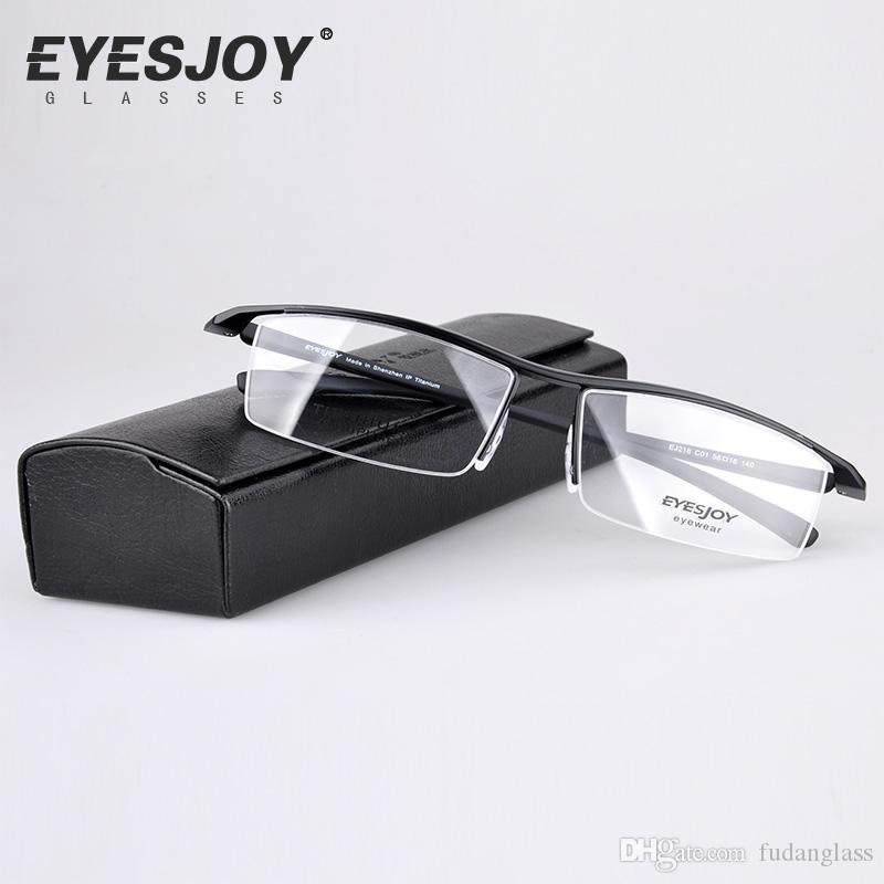 Men Titanium Eyeglasses Brand Designer Glasses Ultra Light Half ...