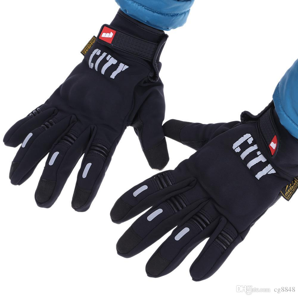 new photos affordable price detailed look Windproof Outdoor Winter Thermal Gloves Full Finger Water Resistance  Touchscreen Cycling Motorcycle Gloves for Smart Phone