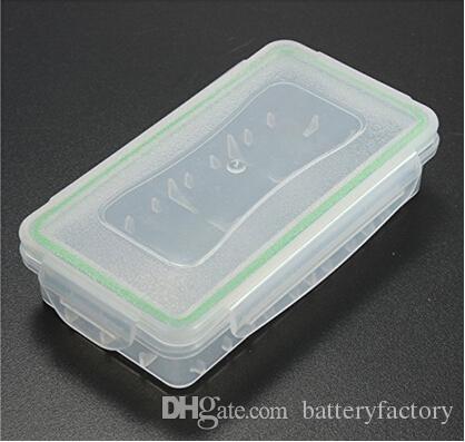 18650 Batterie Box Wasserdicht Fall Kunststoff Schutz Lagerung Translucent Batteriehalter Aufbewahrungsbox für 18650 und 16340 Batterie DHL Frei