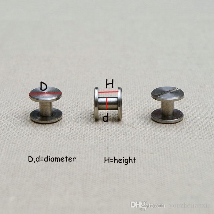 Chicago Style plat 10 pièces Vis en acier inoxydable Énergie Économie d'énergie Sac à portefeuille Courroie Rivet DIY Main Handmade Cuir Hardware Pièce Fixation