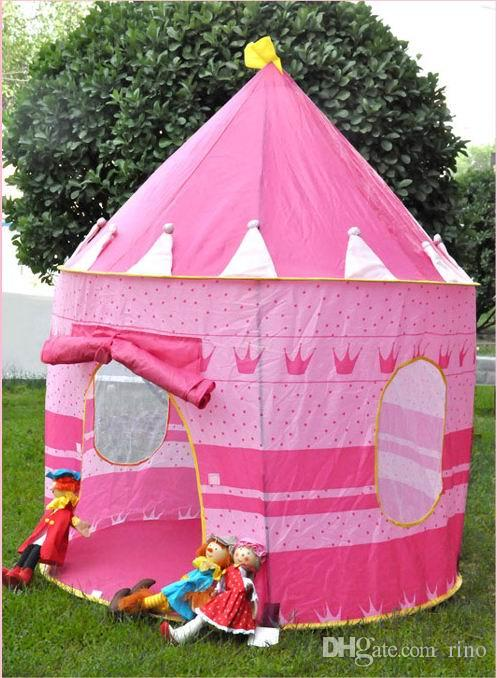 Kids Play Tents Teepee Prince and Princess Palaces Castle Baby Toy House Tent Game House