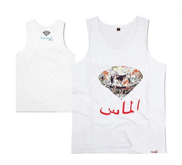 Top Diamond Supply Muscle vest Tank Men's brand printing vest fashion designer vest for men top silk tanks