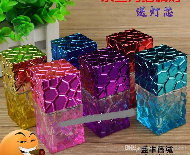 Grande Cubo de Água Brilhante Lâmpada de Álcool Colorido - Goglass Hookah Fumar Tubulação de Vidro Gongos - Plataformas De Petróleo Vidro Bongo De Vidro Cachimbo Tubulação De Fumo
