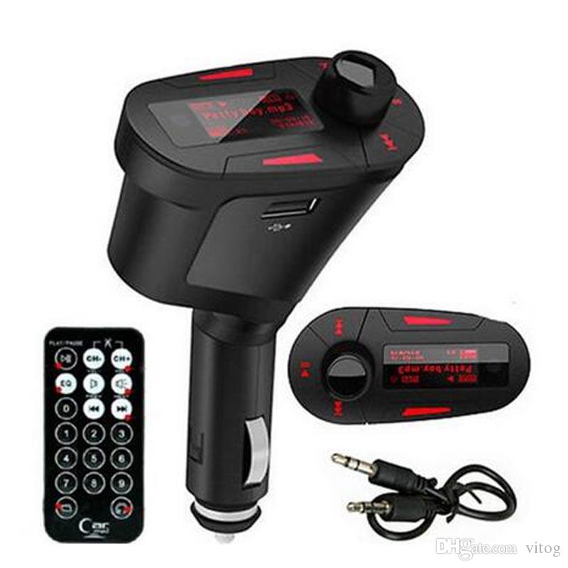 Mini Tragbare Car Kit MP3-Player Drahtlose FM Transmitter Auto Radio Adapter FM-Modulator Stereo Audio Receiver LCD 3 Farbe