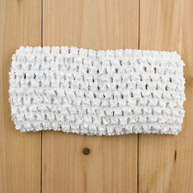 50 шт. / Лот бесплатная доставка растягивающая 7 см мода корейский стиль детей эластичный DIY вязание крючком повязки широкие аксессуары для волос ребенка