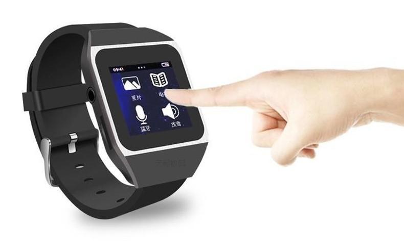 "1.5""Touch Screen 8GB Bluetooth Watch MP4 MP3 Music player Support FM Pedo Meter E-book World Clock"