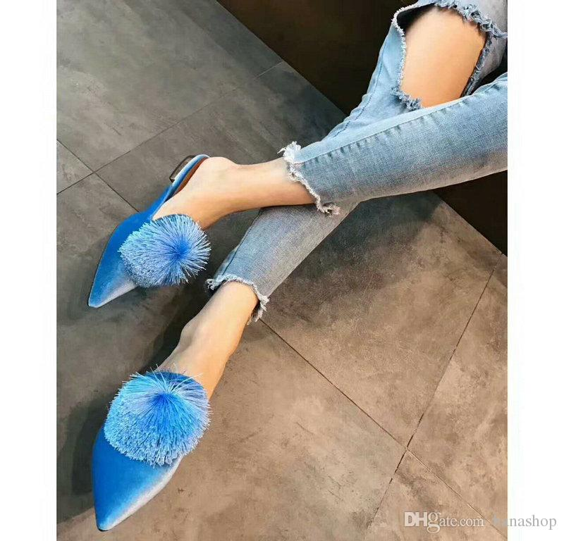 Free Shipping High Fashion Luxury Aquazzura Shoes Same Style With Kendall Jenner Women Fashion Shoes Casual Shoes Blue Color