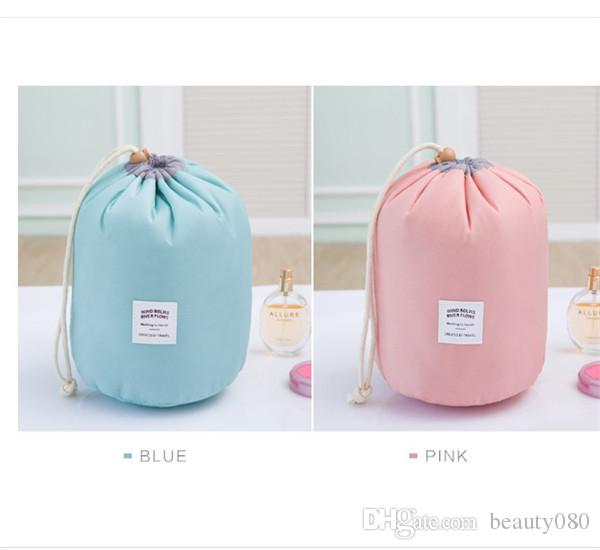 MB-03 Fashionable promotional ladies cosmetic bag cosmetic case makeup bag, travel barrel makeup bag, elegant drum wash bags