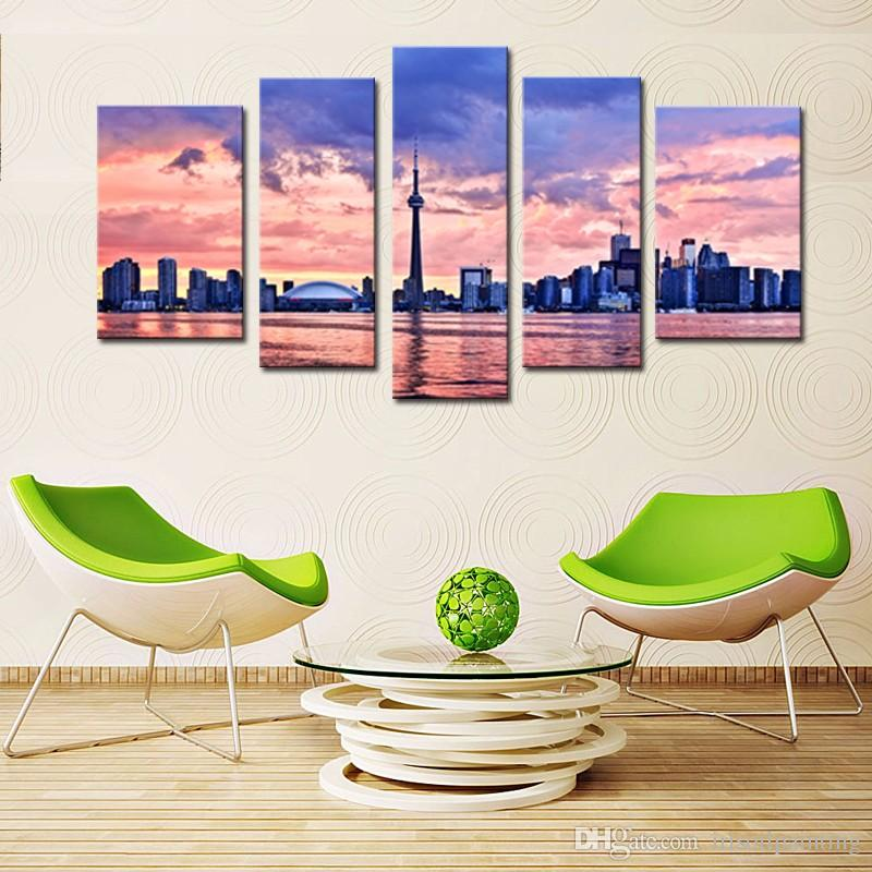 2017 lk590 5 panel canvas print wall art painting for home decor