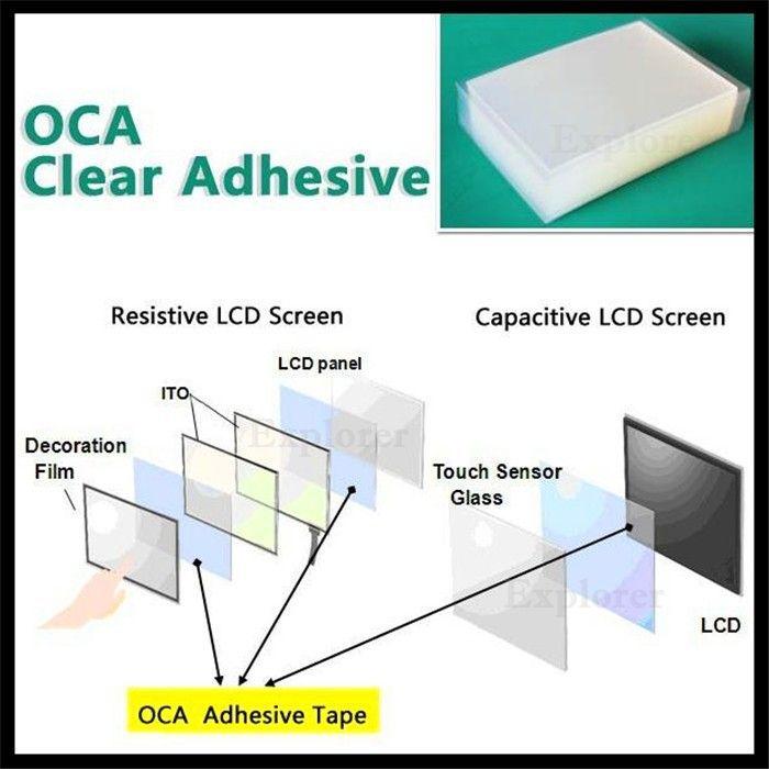 Pellicola adesiva OCA Samsung Galaxy S3 S4 S5 S6 S7 Nota 2 3 4 bordo 5 Mitsubishi doppio lato adesivo riparazione vetro