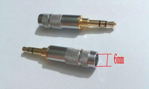 20 unids nuevo Stereo 3.5mm 3 Poste Reparación Auriculares Jack Plug Cable Audio Solder