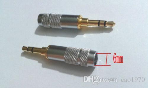 nuovo stereo 3.5mm 3 poli riparazione cuffie jack plug cavo audio saldare