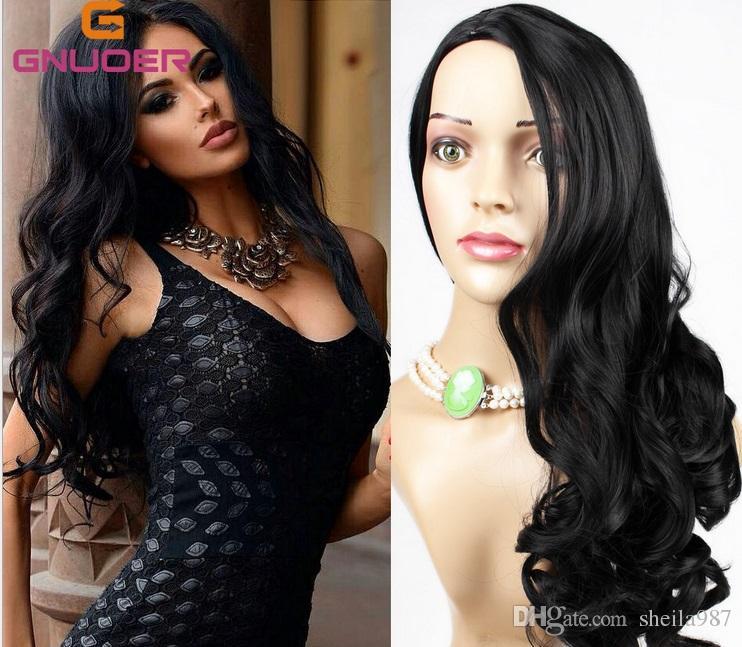 Neue reizvolle Frauen-Mädchen-Art-Art-wellenförmige lockige lange Haar-volle Perücken färbt natürliche Welle
