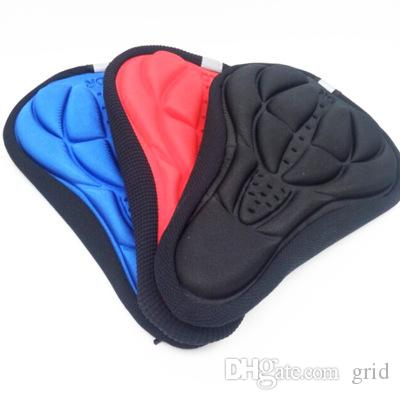 Grid Cycling Bike 3D Pad Bicycle Seat Saddle Cover Soft Cushion Gel Silicone Thicker 3D Cushion Cover