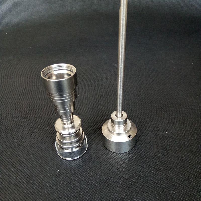 Titanium nails Quartz Banger 10mm 14mm 18mm 6 in 1 with Titanium Carb Cap quartz dish bowl for hookahs oil rigs Glass bongs