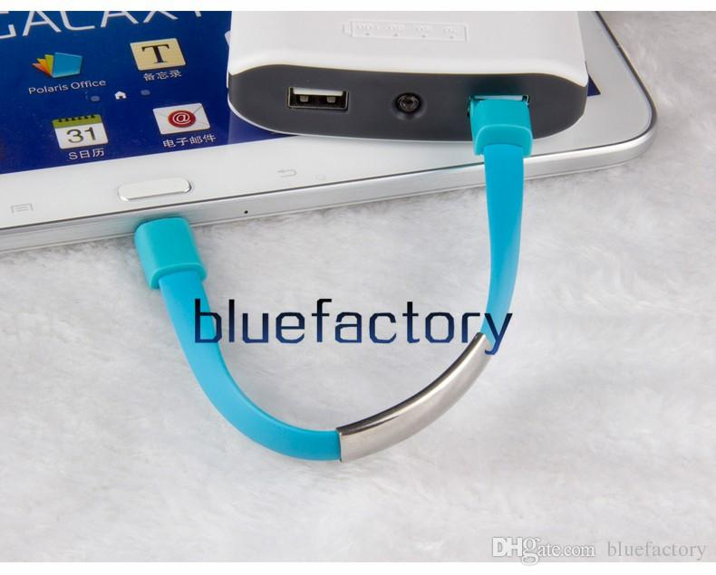 22CM Magnetic Suction Creative Wristband Bracelet Charger Cable Micro USB Data Sync Cord High Speed for Samsung S7 S6 HTC Universal