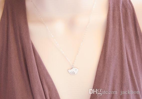 - N027 패션 귀여운 아기 새 목걸이 작은 참새 목걸이 여성을위한 작은 비행 조류 목걸이 작은 제비 목걸이