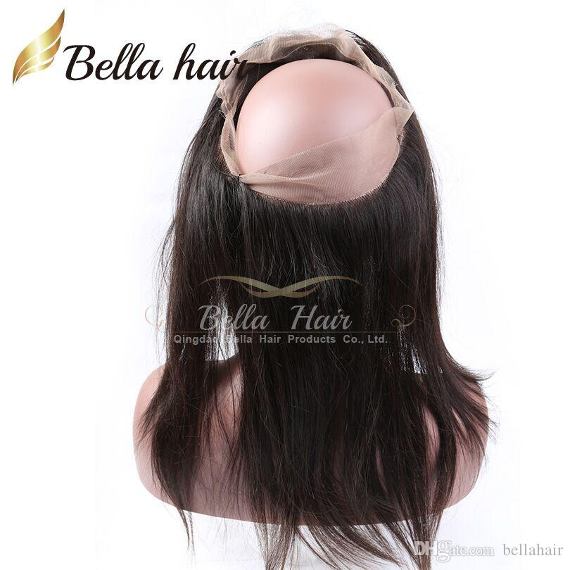 100٪ البرازيلي الانسان الشعر العذراء 360 الرباط الرباط أمامية 22x4x2