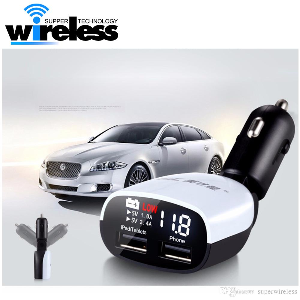 dual usb car charger cars voltage monitoring display with led rh dhgate com