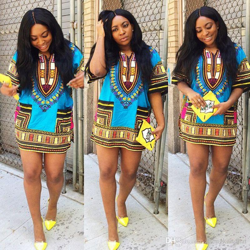2016 New Summer Style Dashiki Dress Fashion Women Traditional ...