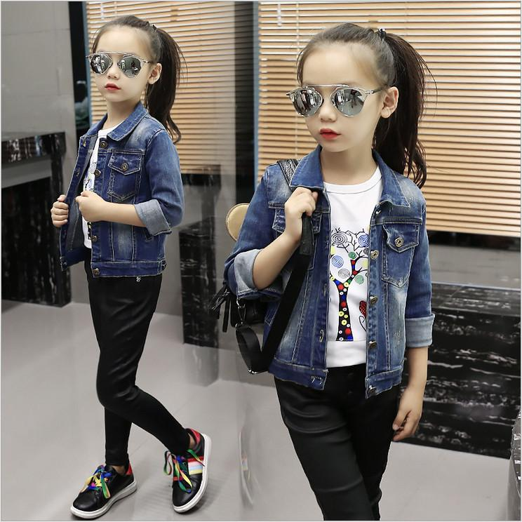 18fcc6e5a Children Clothing Short Coat Girl 2018 New Fashion Long Sleeve Autumn Jeans  Denim Jackets Kids Turn Down Collar Kid Jacket Sale Cheap Childrens Jackets  From ...