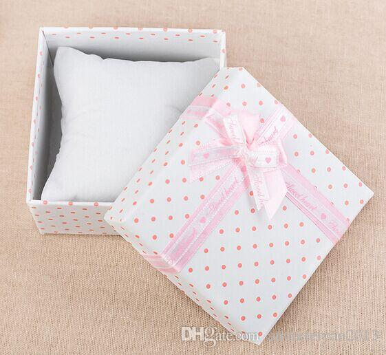 Promotion Size 9*9*5cm Jewelry/Jewellry,Wedding Gifts ,Watch Packing/Package/Packaging Display Showing Box Case with Small Pillow