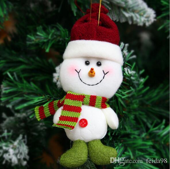2017熱い販売サンタクロース雪の男トナカイ人形のクリスマスの装飾クリスマスツリーぶら下がっている装飾品ペンダント子供最高の贈り物