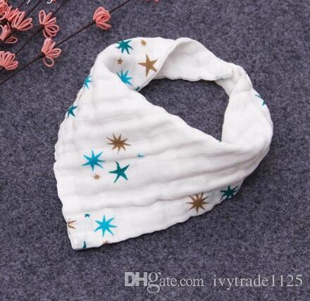 INS 12 stil bebek Önlükler% 100 pamuk Öğle Önlükler / Havlu Tükürük Bebek Çocuk Bebekler gazlı bez 4 katmanları su banyosu havlu ile yıkanır