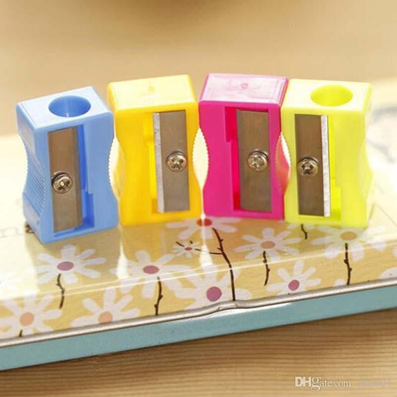 High Quality Pencil Sharpener Student Stationary Single Holes Pencil Cutter Material Escolar