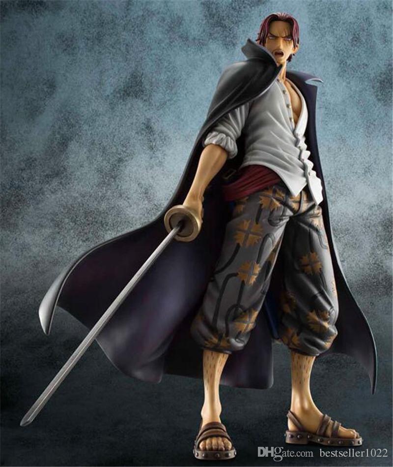 Bon cadeau One Piece Quatre empereurs Cheveux roux SHANKS Chiffres PVC Anime Jouets Japonais Anime Jouets