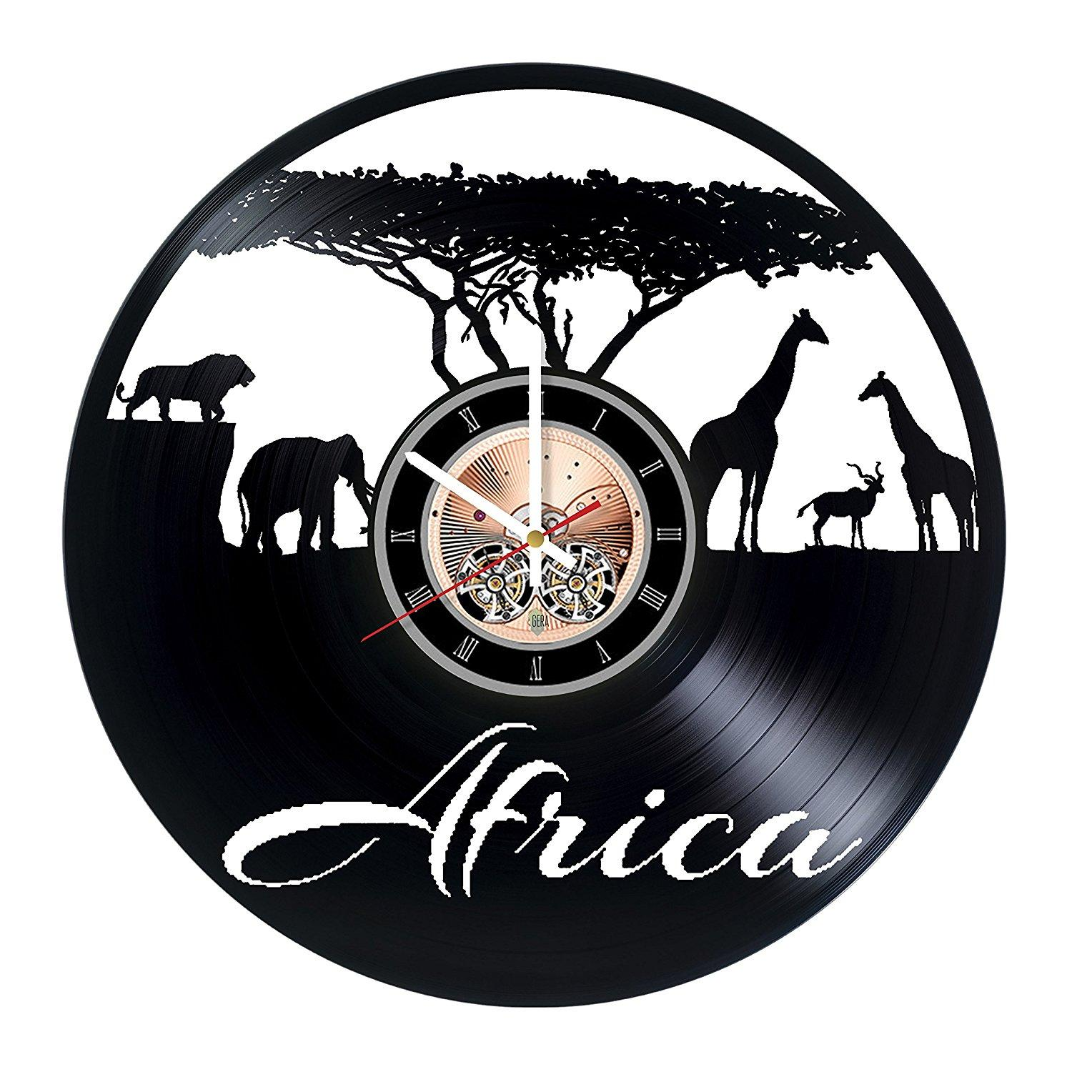 South africa vinyl record wall clock kids room wall decor gift see larger image amipublicfo Gallery