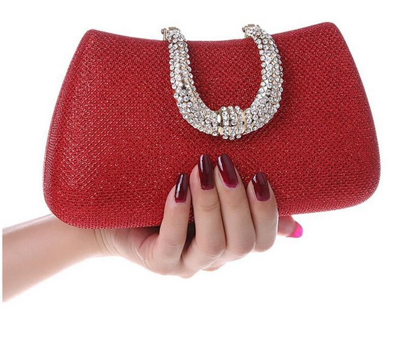 Frau Abendtasche Frauen Diamant Strass U Verschluss Kupplungen Kristall Tag Kupplung Brieftasche / Geldbörse für Party Bankett Abendtasche Handtasche - RC001A