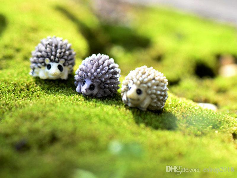 mini animal hedgehog figurine Fairy garden house Decoration resin craft bonsai tools moss Gnome Bottle DIY Jardin Miniature Terrarium