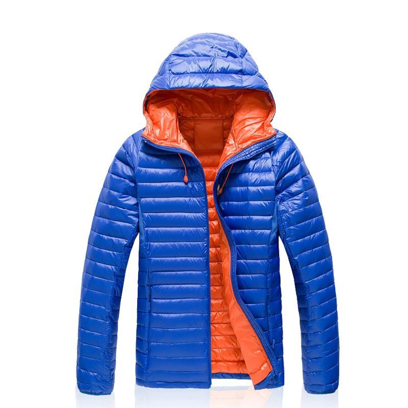 Fashion Outdoors Puffer Lightweight Parka Winter Jacket Men Windbreaker Duck Down Coat Mens Ultra-light Hoodie Jaqueta Masculina