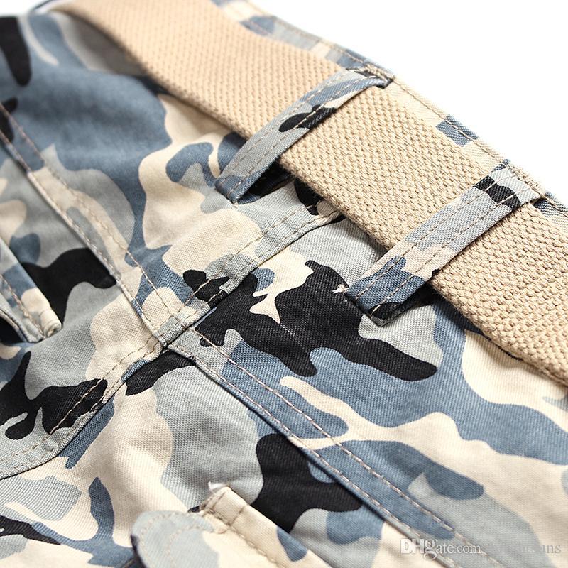 Esercito Militare Verde Camouflage Cotone Pantaloni di Marca Pantaloni Harem Allentati Mens Jogging Abbigliamento Hiphop Jeans Elastici Big Size 28-38