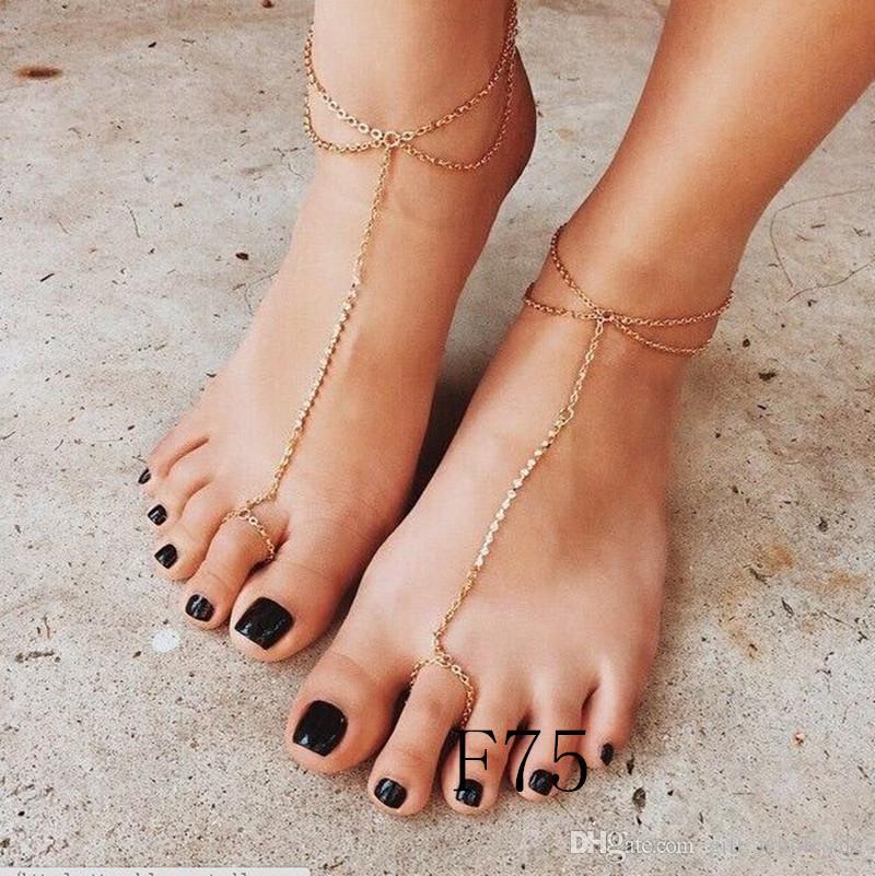 20 Arten Barfuß Sandalen Perlen Fußkette mit Zehenring Neue Ankunft Drop Schiff akzeptieren Glas Perle alll handgemacht