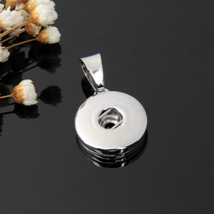 Un seul trou pendentif noosa pendentif noosa breloques noosa penndet collier peut être interchangeable snap bijoux ajustement 18mm boutons-pression
