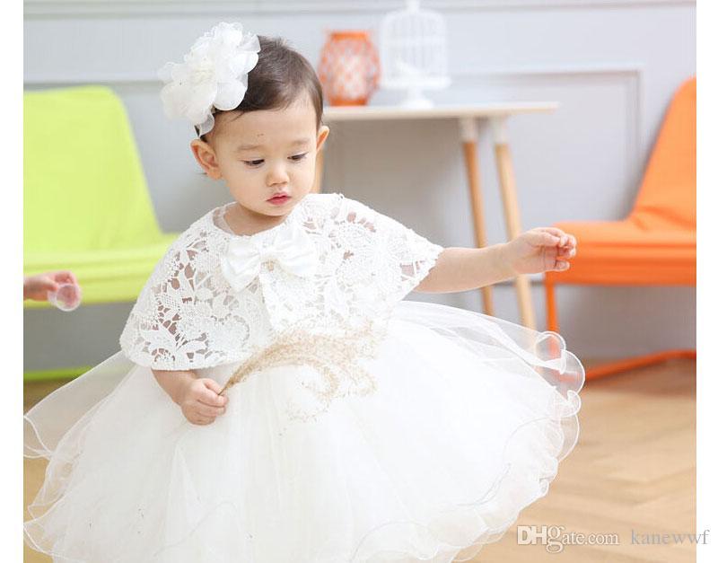 Mode Baby Mädchen Spitze Tutu Kleider 2016 Sommer Kinder Sleeveless Für Kinder Kleidung mit Neusparty Spitze Schal Spitze Prinzessin Kleid