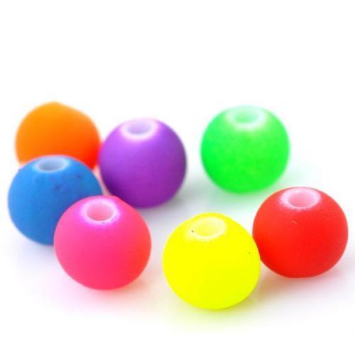 Free Ship Perles Spacer Acrylique Balle Charmes Mixtes pour La Fabrication de Bijoux 6mm