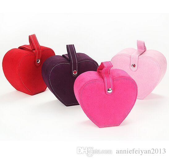 15 * 13 * 7.5 Tissu Peluche Princesse Européenne Portable Apple Couche Simple Couche Bijoux Ensembles Divers Cosmétiques De Stockage Organisateur Boîte / Cas / Bacs / Armoires