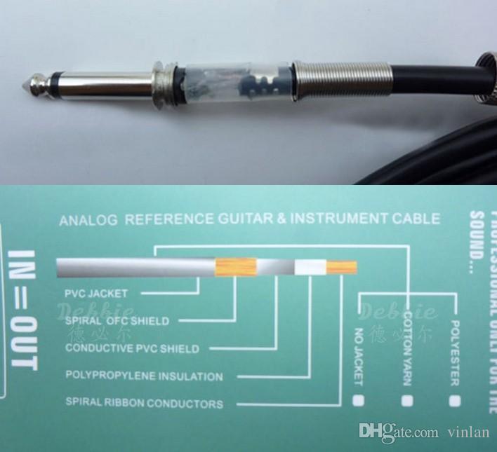 Hohe Qualität 3 mt Elektrische Patchkabel Gitarre Verstärker Kabel Gitarre Pedal Kabel gitarre teile zubehör musikinstrumente