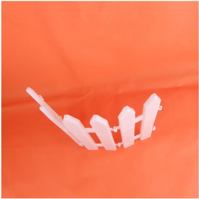 Pvc Clôture en plastique de Noël Freedom Split Joint White Enclosure Christmas Tree Fence Décoration de Noël Enclosure 30 * 12cm