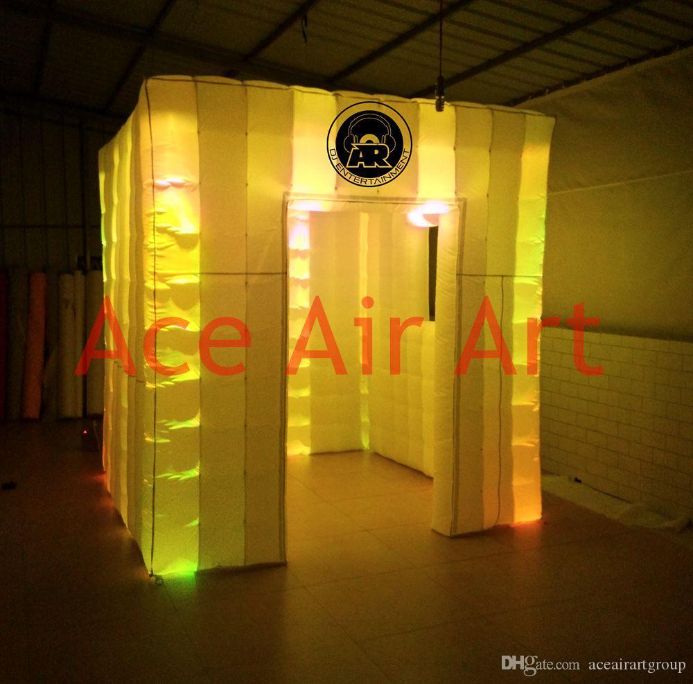 Frete grátis novo personalizado ido mudando DJ inflável photo booth inflagtable weding cabine com ventilador de ar livre