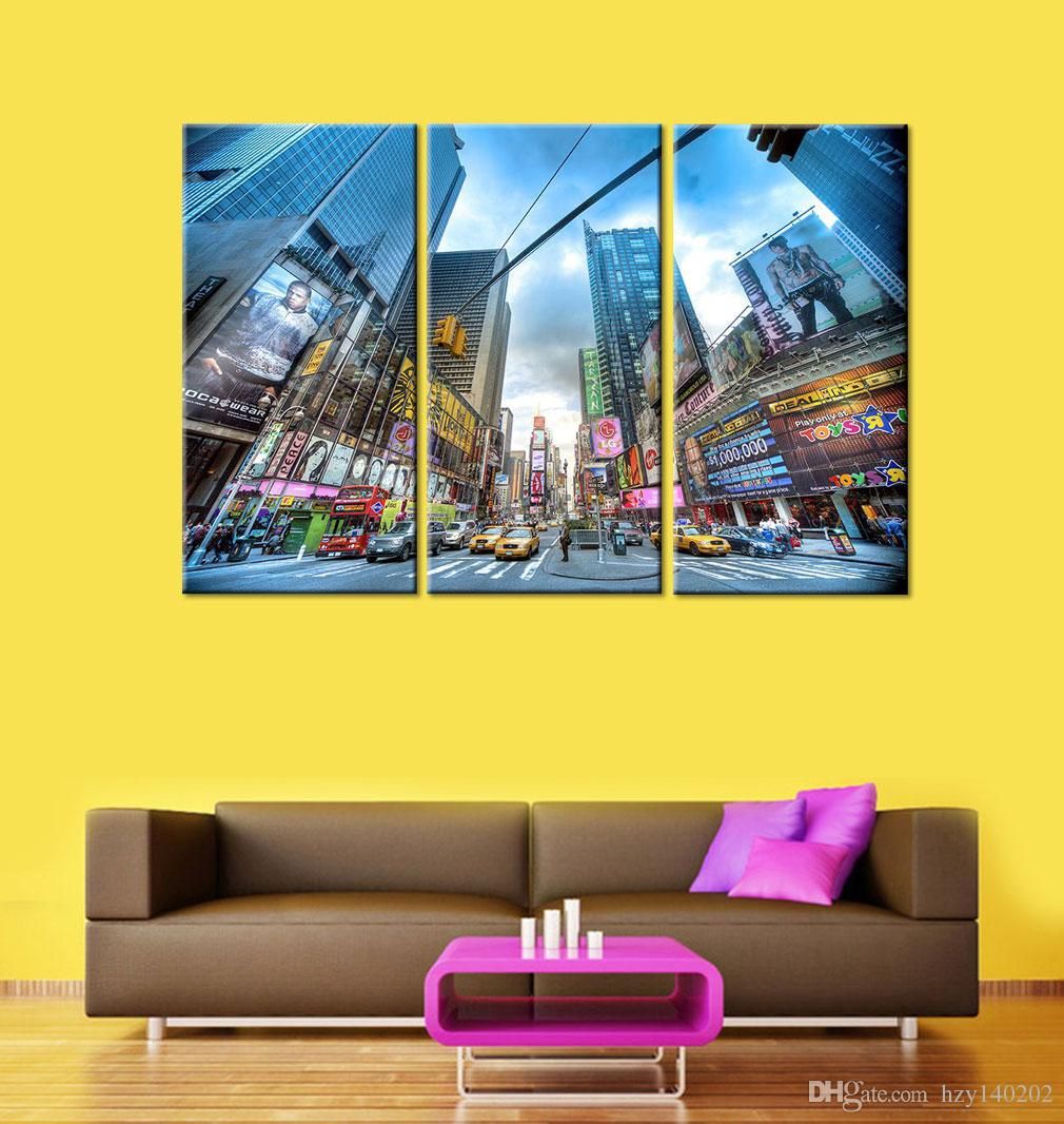 2018 Yijiahe Modern Print Canvas Painting City Canvas Art Wall ...
