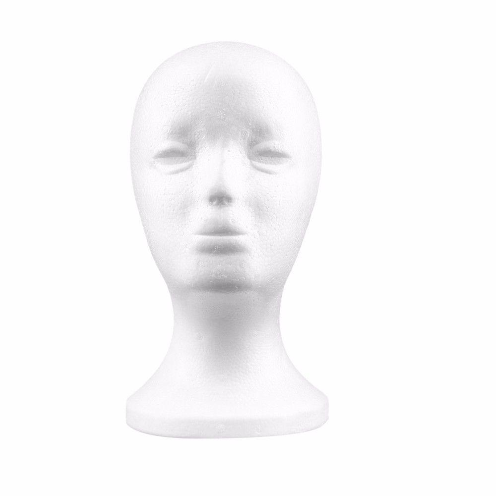 Kadın Strafor peruk kafaları Köpük Manken Mankeni Başkanı Modeli Peruk Saç Gözlük Gözlük Şapka Ekran