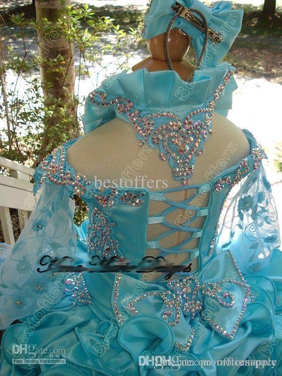 2018 кекс с плеча блестками Кристалл мини-блеск цветок девушка театрализованное представление девушки платья формальные маленькие дети День Рождения платья