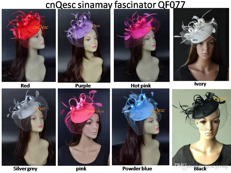 NEW Felt Fascinator Kentucky Derby Hat For Wedding Races Tea  Party.Red a5b230007cd